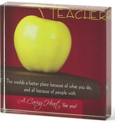Teacher A Caring Heart Glass Plaque