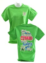 Girly Grace, Forget the Bling, Camo Is This Hunting Girl's Thing Shirt, Green, Medium