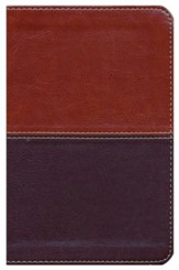 NKJV Compact UltraThin Reference Bible, Brown and Tan Imitation Leather