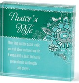 Pastors Wife Glass Plaque