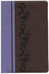NIV Rainbow Study Bible, Brown and Lavender LeatherTouch