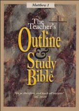Teacher's Outline & Study: KJV, Matthew Vol. 1