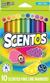 Scentos Scented Fine Line Markers, Pack of 10