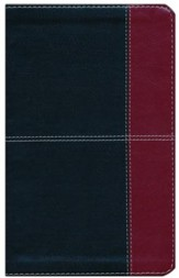 HCSB Ultrathin Reference Bible, Black and Burgundy LeatherTouch, Thumb-Indexed