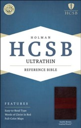 HCSB Ultrathin Reference Bible, Saddle Brown LeatherTouch