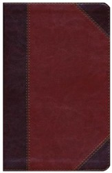 HCSB Ultrathin Reference Bible, Classic Mahogany LeatherTouch