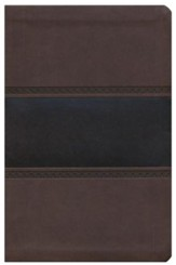 HCSB Large Print Personal Size Bible, Brown and Chocolate LeatherTouch