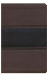 HCSB Large Print Personal Size Bible, Brown and Chocolate LeatherTouch,Thumb-Indexed