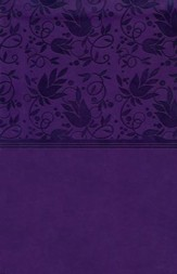 HCSB Large Print Personal Size Bible, Purple LeatherTouch, Thumb-Indexed