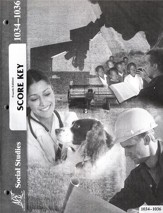 4th Edition Social Studies Score Keys 1034-1036