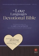 NLT Love Languages Devotional Bible Soft Leather-look Chocolate/Mahogany Tree Bark Grain - Imperfectly Imprinted Bibles