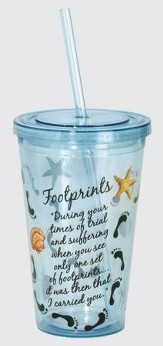 Footprints Tumbler, with Straw