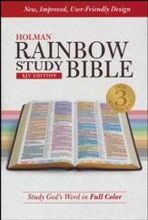 KJV Holman Rainbow Study Bible, Hardcover  - Slightly Imperfect