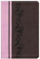 Soft leather-look, brown/pink