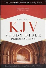 KJV Study Bible Personal Size, Hardcover - Slightly Imperfect