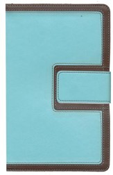 HCSB Ultrathin Reference Bible, Brown and Blue LeatherTouch with Magnetic Flap