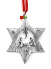 Star with Nativity Ornament