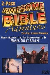 Awesome Bible Adventures: Moses Receives the Ten Commandments  & Moses' Great Escape, DVD