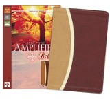 Amplified Bible, Large Print, Italian Duo-Tone, Camel/Burgundy