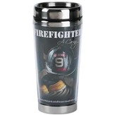 Firefighter Travel Mug, A Caring Heart