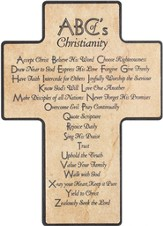 ABCs of Christianity Cross, Wood
