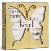 Nanas Are the Heart Of the Family, Butterfly Plaque