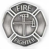 Firefighter Pocket Stone, A Caring Heart