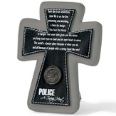 Police Tabletop Cross, A Caring Heart