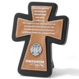 Firefighter Tabletop Cross, A Caring Heart