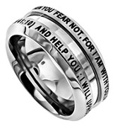 Fear Not Industrial Men's Ring, Size 13 (Isaiah 41:10)