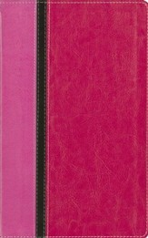King James Version Reference Bible, Italian Duo-Tone, Pink