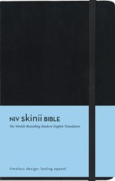 NIV Skinii Bible, Italian Duo-tone, Black, Hard Case