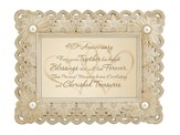 40th Anniversary Framed Print, Cream & Gold