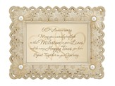 60th Anniversary Framed Print, Cream & Gold