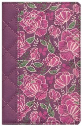NIV Quilted Collection Bible, Compact, Flexcover, Burgundy Floral - Slightly Imperfect
