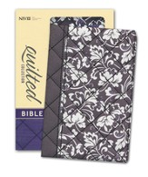 NIV Quilted Collection Bible, Compact, Flexcover, Black Floral