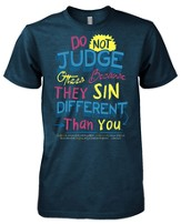 Do Not Judge Others Shirt, Blue, Large