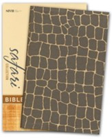 NIV Safari Collection Bible, Flexcover, Bonded Leather, Giraffe - Slightly Imperfect
