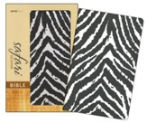 NIV Safari Collection Bible, Flexcover, Bonded Leather, Zebra