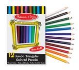 Jumbo Triangular Colored Pencils, Set of 12