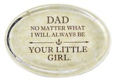Daddy's Girl Glass Oval Paperweight
