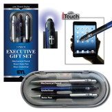 Executive Gift Boxed Pen Set, Black, Blue