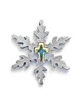 Snowflake with Cross Pin