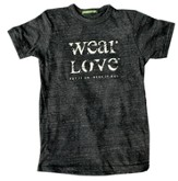 Wear Love Shirt, Crew Neck, Eco Black,  XX Large