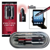 Executive Gift Boxed Pen Set, Black, Red