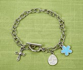 Jesus Is A Girl's Best Friend, I Am With You Always Charm Bracelet