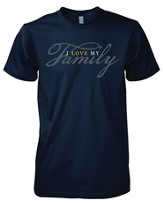 I Love My Family Shirt, Navy, Large