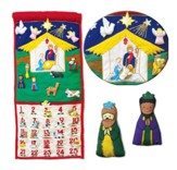 Fabric Nativity Advent Wall Calendar with Pockets