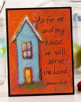 House Art Plaque, Joshua 24:15