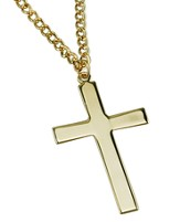 Plain Cross Necklace, Large, Gold Filled